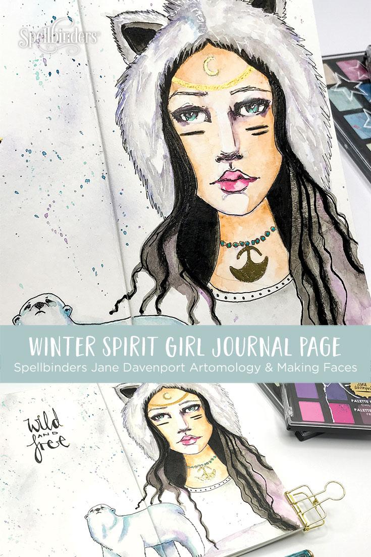Jane Davenport Artomology   Winter Spirit Girl with Kate Palmer for Spellbinders