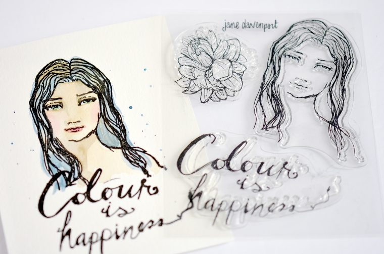 Colour is Happiness One Layer card by Mayline Jung for Spellbinders using Jane Davenport Artomology Collection