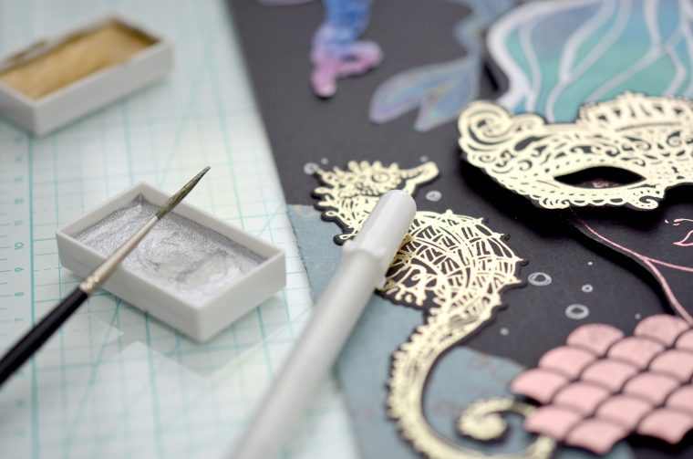 Jane Davenport NEW Artomology   Get Creative with Mayline Jung - Mixed Media Piece