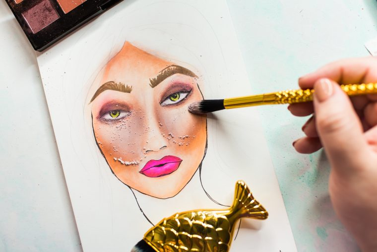 Jane Davenport NEW Artomology   Face Coloring with Mona Toth for Spellbinders