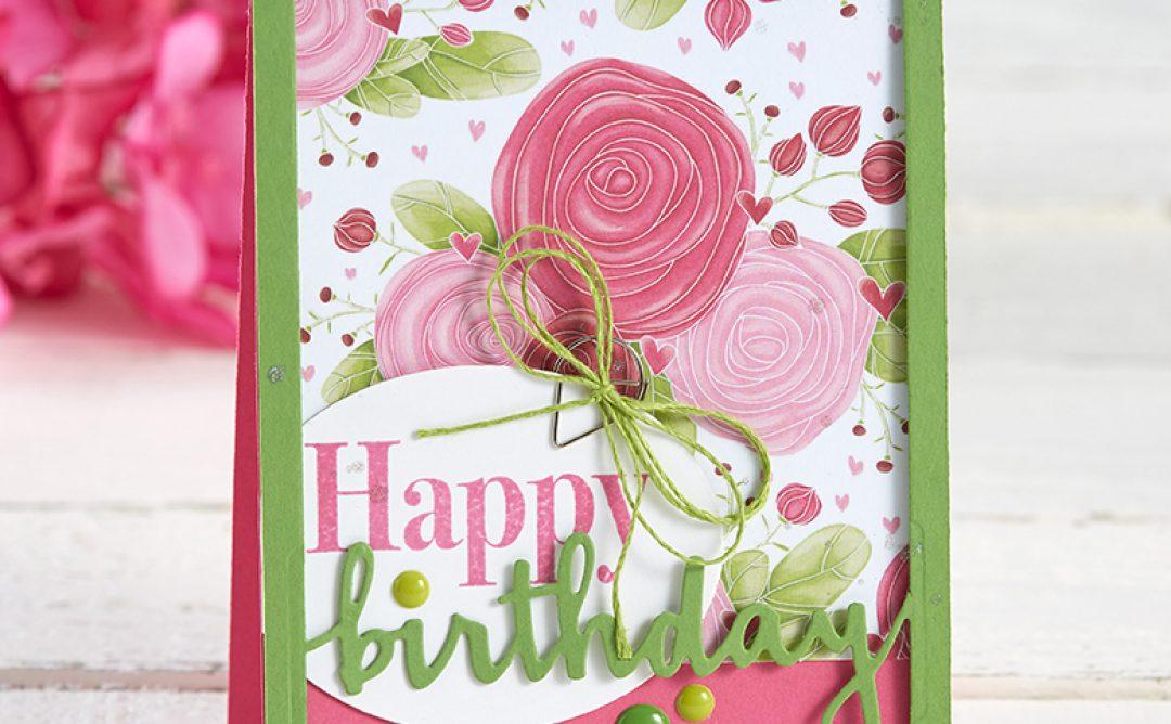 Beautiful Birthday Card with FSJ Designer Frames