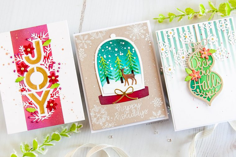 Spellbinders Holiday 2019 Inspiration | Clean & Simple Christmas Cards with Keeway Tsao