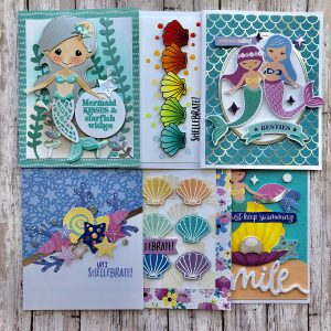"Spellbinders July Clubs Inspiration Roundup - ""Shellebrate"" Card Kit of the Month"