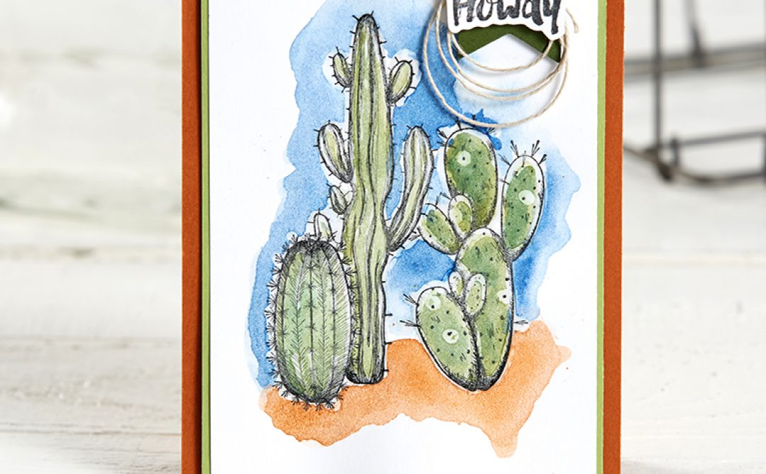 Use the Arizona Trail Stamp Set for Cute Cactus Cards!