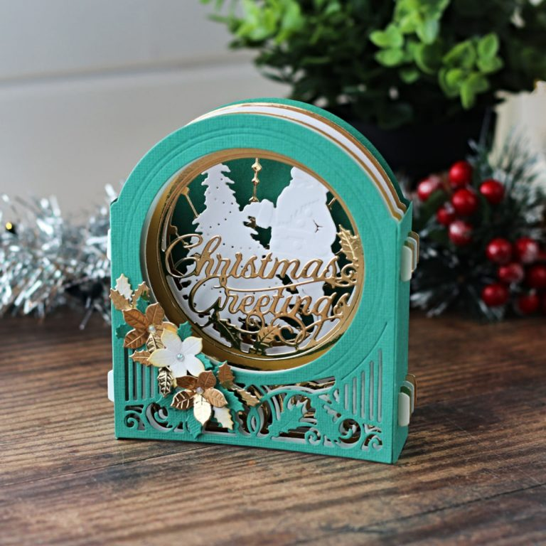 Spellbinders 3D Holiday Vignettes Collection by Becca Feeken - Inspiration | Holiday Vignettes with Bibi Cameron