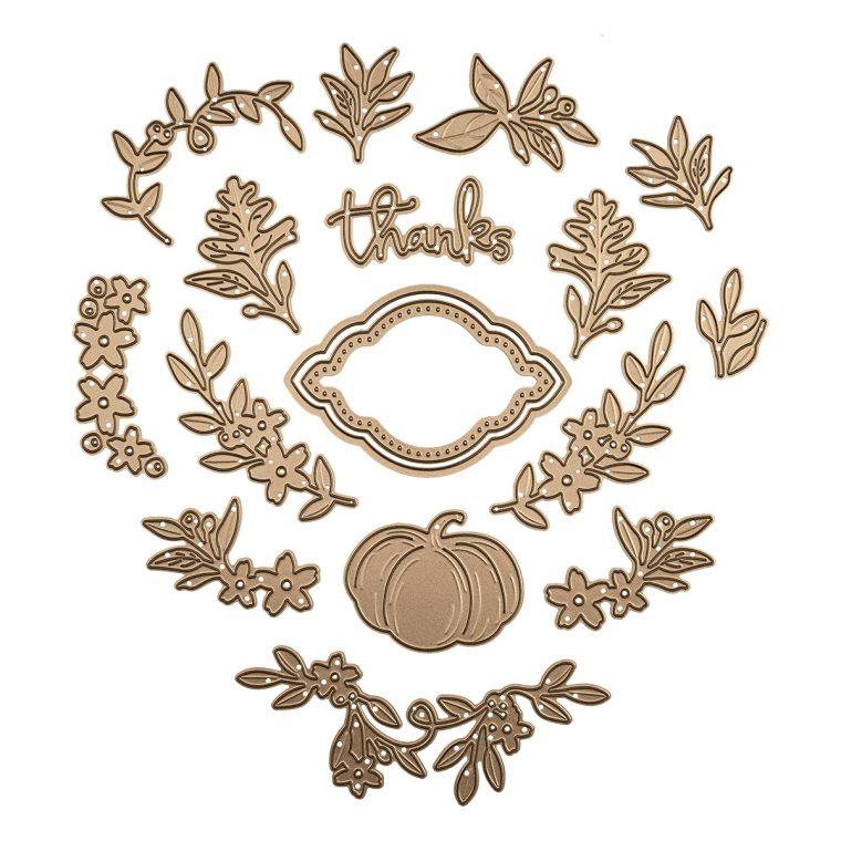 Spellbinders October 2019 Large Die of the Month is Here – Fall Flora