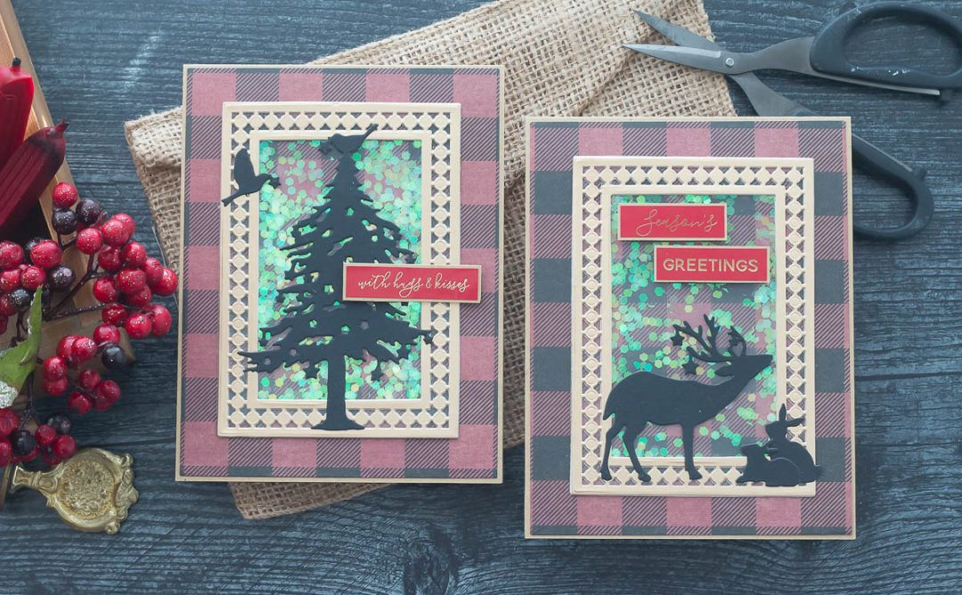 Candlewick Classics Collection Inspiration | Christmas Shaker Cards with Marie Nicole